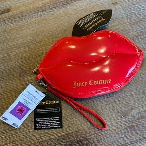 NWT Juicy Couture Red Lips Charging Wristlet